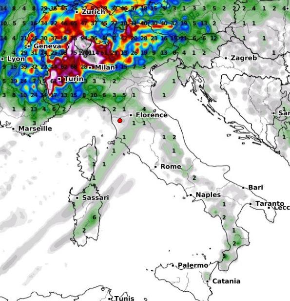 Weekend con temporali sulle Alpi