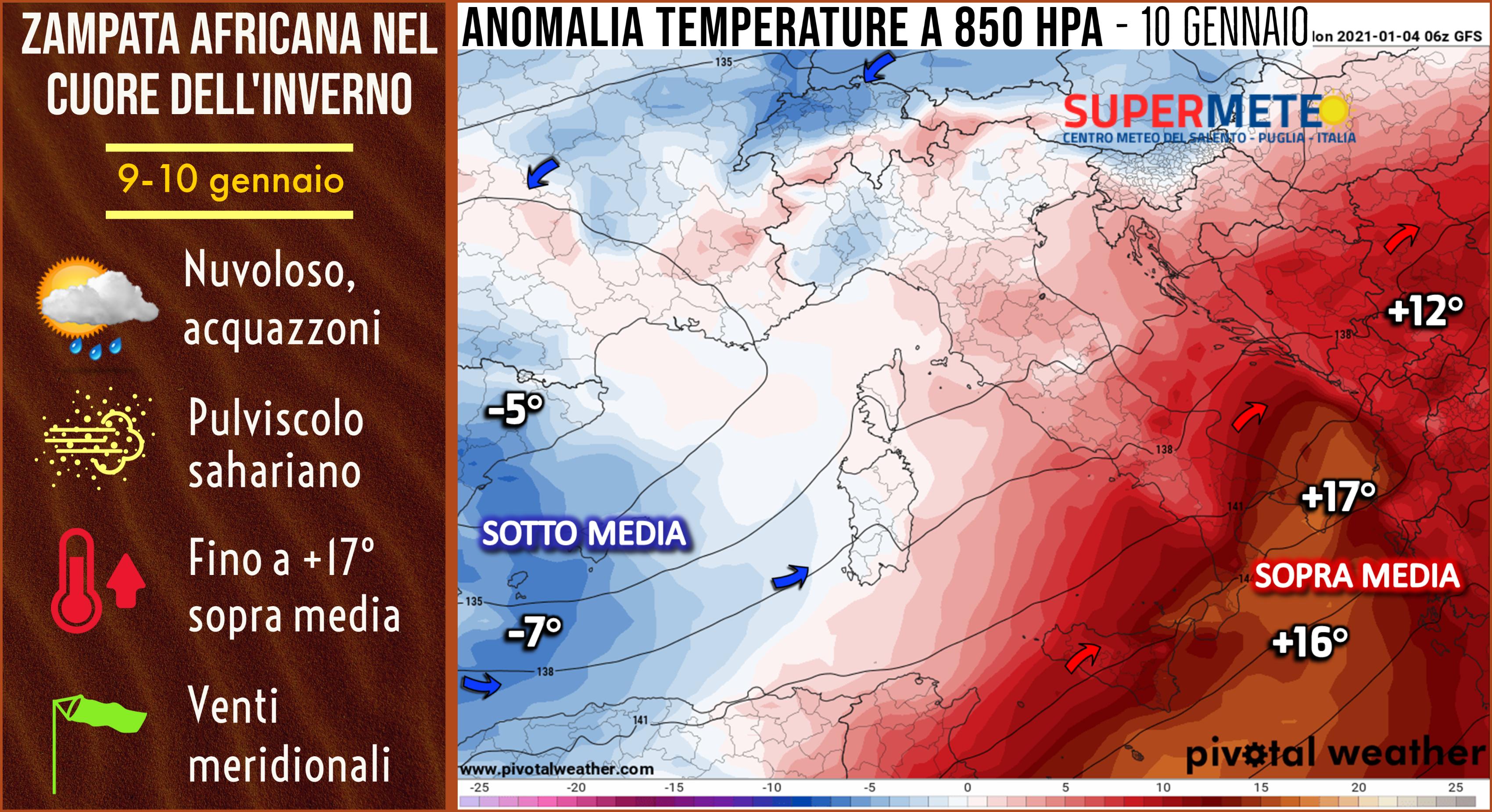 Caldo anomalo in arrivo al Centro-Sud