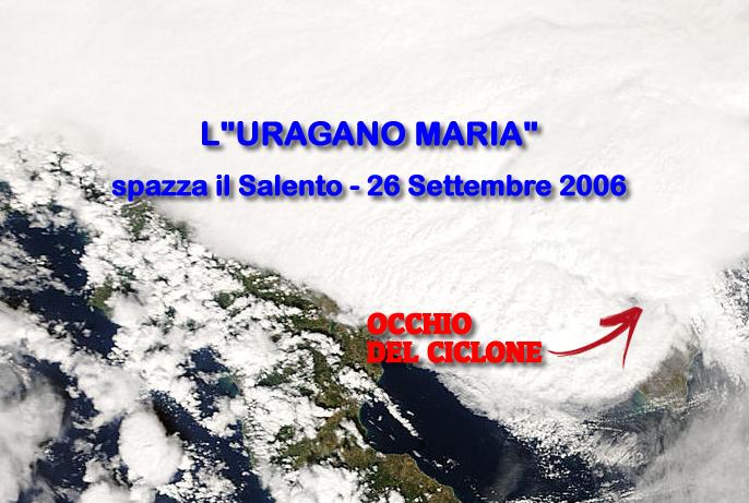 Uragano Maria sul Salento - 26 Settembre 2006