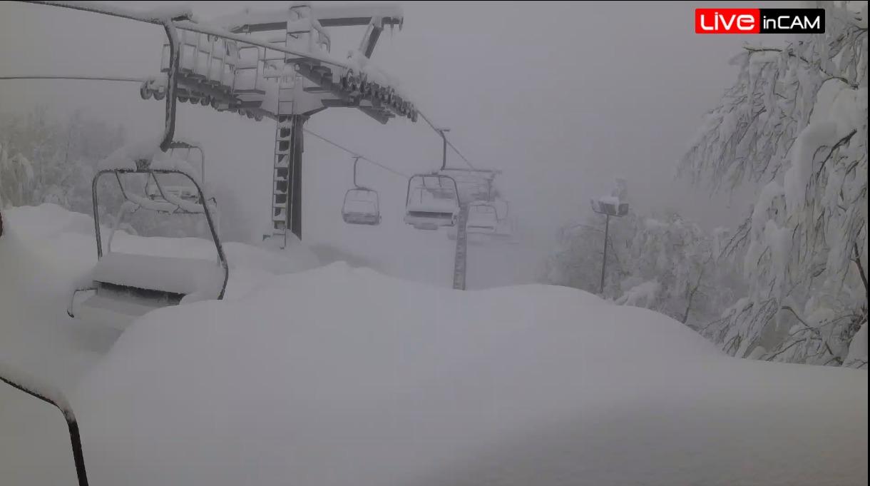 Bufere di neve in Appennino