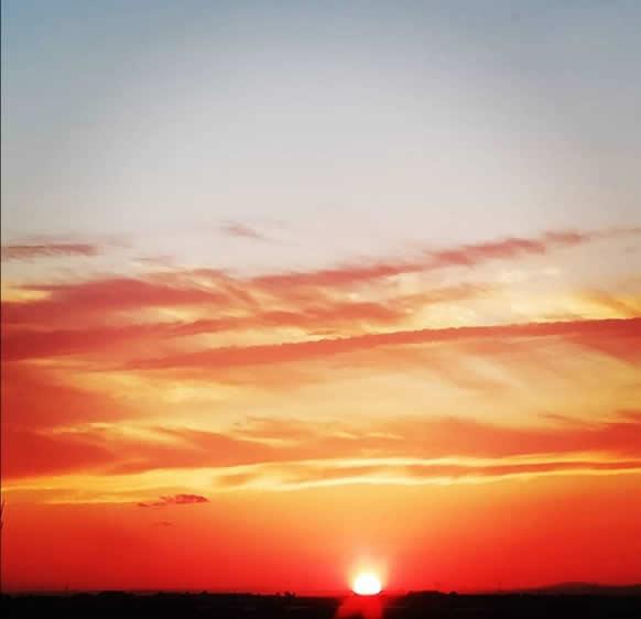 tramonto giallo salento