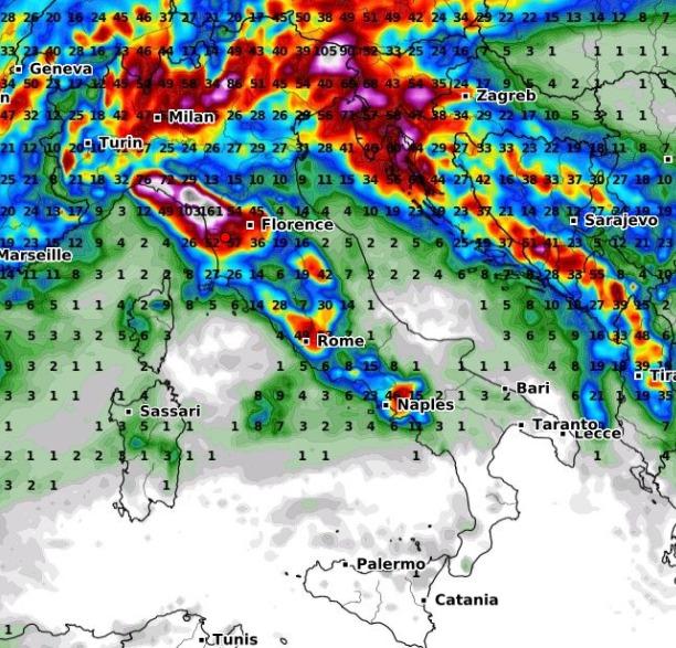 Perturbazioni atlantiche nei prossimi giorni