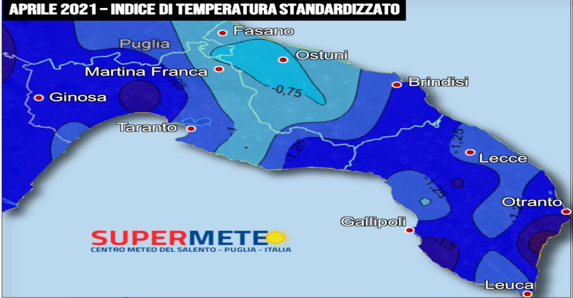 Il mese di aprile più freddo del nuovo millennio