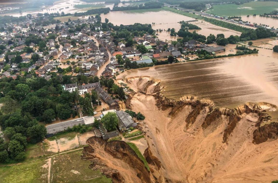 Inondazioni in Germania ed Austria